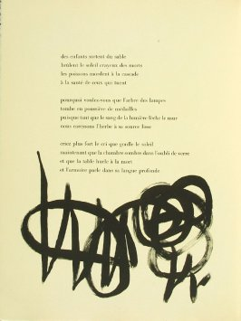 Untitled, pg. 32, in the book Parler seul by Tristan Tzara (Paris: Adrien Maeght, 1948-50)