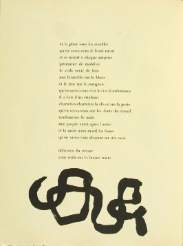 Untitled, pg. 36, in the book Parler seul by Tristan Tzara (Paris: Adrien Maeght, 1948-50)