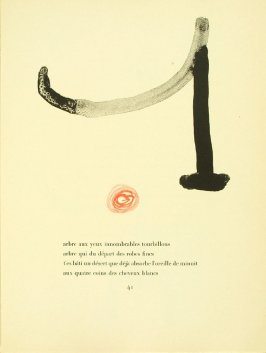 Untitled, pg. 41, in the book Parler seul by Tristan Tzara (Paris: Adrien Maeght, 1948-50)