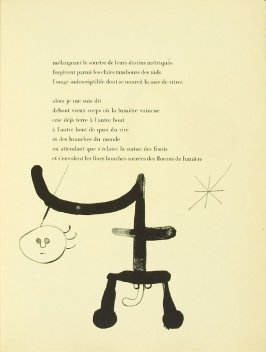 Untitled, pg. 43, in the book Parler seul by Tristan Tzara (Paris: Adrien Maeght, 1948-50)