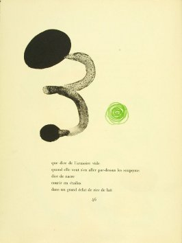 Untitled, pg. 46, in the book Parler seul by Tristan Tzara (Paris: Adrien Maeght, 1948-50)