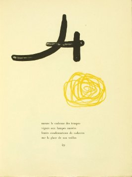 Untitled, pg. 49, in the book Parler seul by Tristan Tzara (Paris: Adrien Maeght, 1948-50)