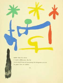 Untitled, pg. 55, in the book Parler seul by Tristan Tzara (Paris: Adrien Maeght, 1948-50)