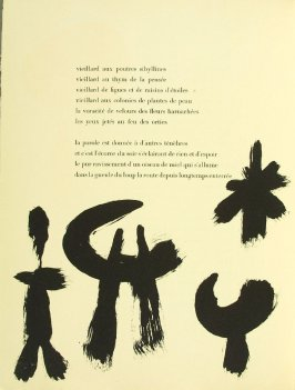 Untitled, pg. 58, in the book Parler seul by Tristan Tzara (Paris: Adrien Maeght, 1948-50)