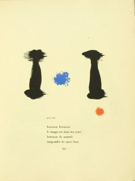 Untitled, pg. 65, in the book Parler seul by Tristan Tzara (Paris: Adrien Maeght, 1948-50)