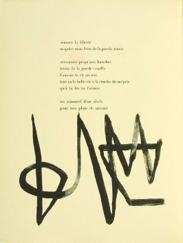 Untitled, pg. 74, in the book Parler seul by Tristan Tzara (Paris: Adrien Maeght, 1948-50)