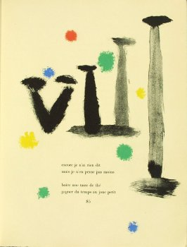 Untitled, pg. 85, in the book Parler seul by Tristan Tzara (Paris: Adrien Maeght, 1948-50)