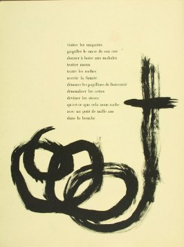 Untitled, pg. 86, in the book Parler seul by Tristan Tzara (Paris: Adrien Maeght, 1948-50)