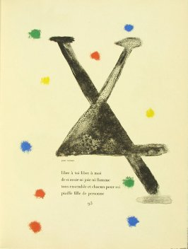 Untitled, pg. 93, in the book Parler seul by Tristan Tzara (Paris: Adrien Maeght, 1948-50)