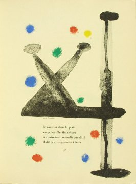 Untitled, pg. 97, in the book Parler seul by Tristan Tzara (Paris: Adrien Maeght, 1948-50)