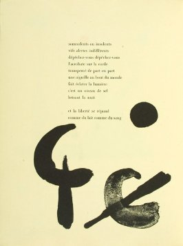 Untitled, pg. 98, in the book Parler seul by Tristan Tzara (Paris: Adrien Maeght, 1948-50)