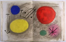 Untitled Abstract Illustration, pgs. 38 and 39, in the book Bagatelles végétales by Michel Leiris (Paris: Aubier, 1956)