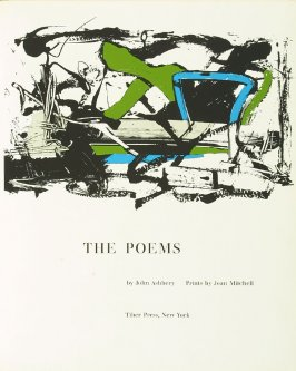 Frontispiece, in the book The Poems by John Ashbery in the Portfolio of 4 Books of Poetry (New York: Tiber Press, 1960)