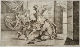 Aeneas departs for the Battle, plate 5 of L'Enea Vagante Pitture dei Caracci (Wanderings of Aeneas Painted by the Carracci), from of a set of twenty prints after the paintings by Ludovico, Annibale, and Agostino Carracci in the Palazzo Fava, Bologna
