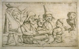Questo que tiene la canella in mano è il famoso Gianin da Capugnano (The One Holding the Little Cane [i.e. Chalk Holder} in His Hand is the Famous Gianin from Capugnano), from an unnumbered set of twelve caricatures engraved by Giuseppe Maria Mitelli afte