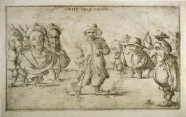 Oche belle persóne (Look at the Handsome One), from an unnumbered set of twelve caricatures engraved by Giuseppe Maria Mitelli after Pietro de Rossi's drawings