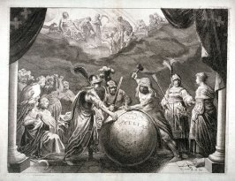 Gallia - #2 of five allegorical engravings