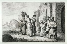 (Lot and his wife leaving Sodom)