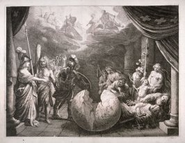 Gallia - #3 of five allegorical engravings