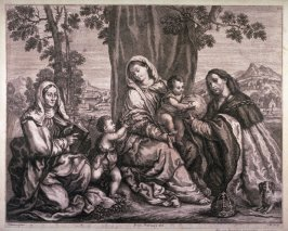 The Holy Family Seated under a Tree with St. John and Elizabeth, after Titian