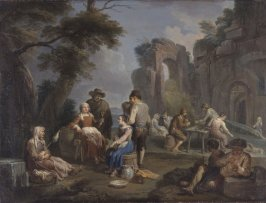 Peasant Drinking by a Ruin