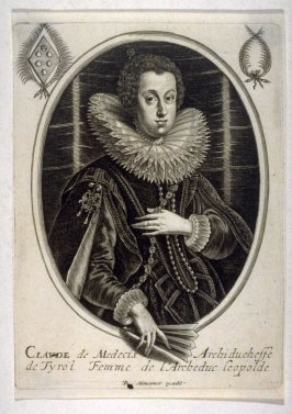 Portrait of Claude de Medecis, Archduchess of Tyrol, wife of the Archduke Leopold