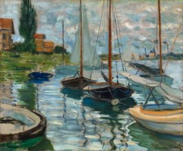 Sailboats on the Seine at Petit -Gennevilliers