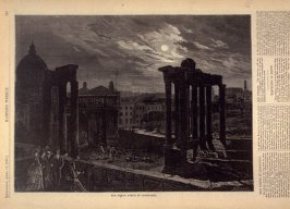 The Roman Forum by Moonlight - p.329 Harper's Weekly 19 April 1873
