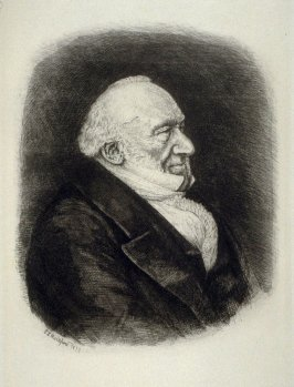 Portrait of Sir Moses Montefiore, plate 5 in the book, The Etcher (London: Williams and Norgate, 1879), vol. 1