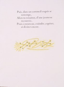 """Tail Piece II,"" pg. 56, in the book Prométhée by Goethe (translation by André Gide) (Paris: Nicaise Editeur, 1951)"