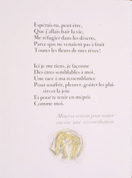 """Tail Piece III,"" pg. 65, in the book Prométhée by Goethe (translation by André Gide) (Paris: Nicaise Editeur, 1951)"
