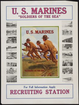"""U.S. Marines """"Soldiers of the Sea"""" - World War I poster"""