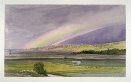 Marshy Landscape with Rainbow