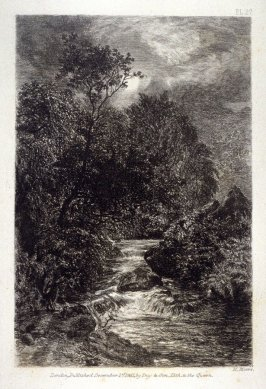 Moonlight, plate 27, accompanying the poems, To the Moon and The Moon, by William Wordsworth, in the book, Passages from Modern English Poets Illustrated by the Junior Etching Club (London: Day & Son, 1861)Image from Passages from Modern English poets Ill