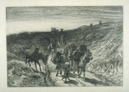A Burro Train in New Mexico, plate 14 in the book, Choice Etchings (London: Alexander Strahan, 1887)