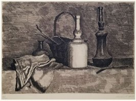 Natura morte con il panneggio a sinistra (Still Life with a Bread Basket on the Left)