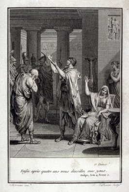 O Dieux! - Illlustration to work of Voltaire (Oedipe, Act IV, Sc.3)