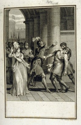 Proof before the title of: Adelaide! - Illlustration to work of Voltaire (Adelaide de Gueselin, Act II, Sc.3)