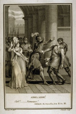 Adelaide! - Illlustration to work of Voltaire (Adelaide de Gueselin, Act II, Sc.3)