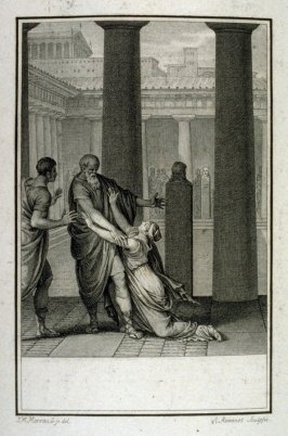 Proof before the title of: Aglaé - Illlustration to work of Voltaire (Socrate, Act II, Sc.1)