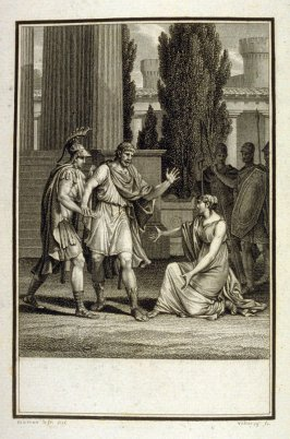 Proof before the title of: Image des vrais Dieux - Illlustration to work of Voltaire (Lois de Minos, Act II, Sc.3)