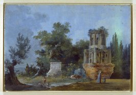 Landscape with Women Laundering