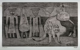 One of a Series of twelve etchings and drypoints