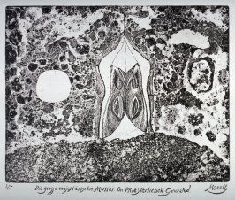 One of a Series of twelve etchings and drypoints: Die grosse majestatische Mutter. Im Priesterlichen Gewand