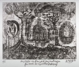 One of a Series of twelve etchings and drypoints: Der Schafer von Humi Den Mond wachsen