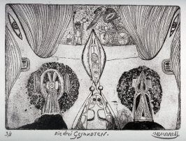 One of a Series of twelve etchings and drypoints: Die drei Gesandten