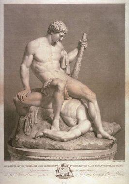 Theseus and the Slain Minotaur, after the sculpture of Antonio Canova