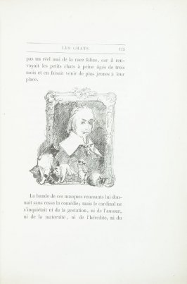 """Richelieu, dessin de Morin,"" pg. 115, in the book Les Chats (Cats) by Champfleury (Paris: J. Rothschild, 1870)."