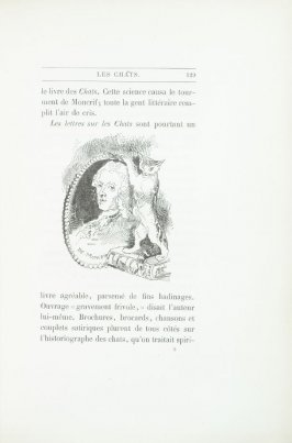 """Moncrif, dessin de Morin,"" pg. 129, in the book Les Chats (Cats) by Champfleury (Paris: J. Rothschild, 1870)."