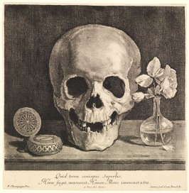 Still Life with Skull, Pocket Watch, and Roses (Memento Mori)